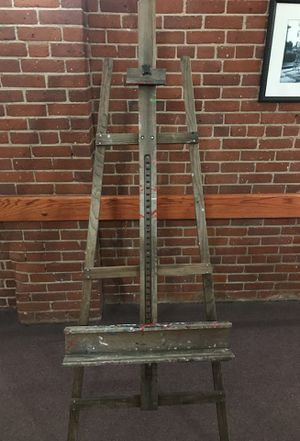 Old wooden weathered painters easel for Sale in Boston, MA