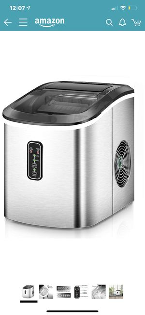 Euhomy Ice Maker Machine Countertop, Makes 26 lbs Ice in 24 hrs-Ice Cubes Ready in 8 Mins, Compact&Lightweight Ice Maker with Ice Scoop and Basket. ( for Sale in Ontario, CA