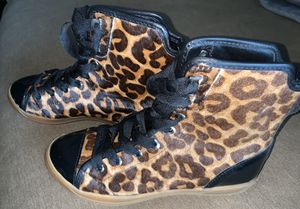 Rare Michael Kors hightop leopard sneakers size 6.5 women's for Sale in Lake Forest, CA