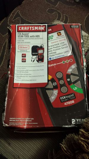Craftsman 47208 Fix Assist Scan Tool with ABS. Box is beatup but items is brand new. for Sale in Everett, WA
