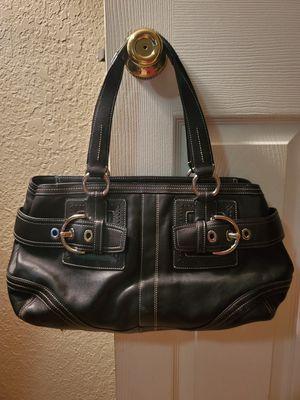 Beautiful Black Leather Coach Purse New Condition for Sale in Virginia Beach, VA
