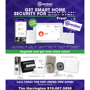 Free Security System when you sign up for 24/7 monitoring! for Sale in Raleigh, NC