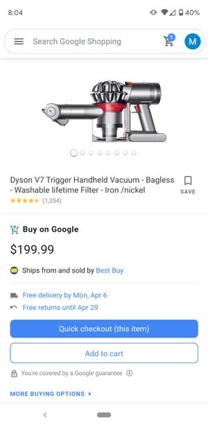 New Dyson Trigger (paid $200) for Sale in Tierra Verde, FL