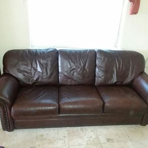 Leather couch for Sale in Spring, TX