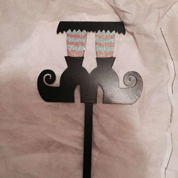 Halloween Decoration Witches Legs Yard Stake