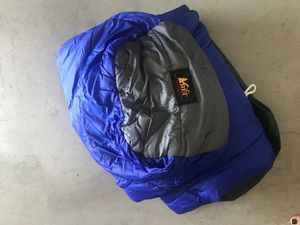 REI mummy sleeping bag - blue and grey with bag for Sale in Chula Vista, CA