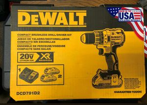 Dewalt 20-Volt 1/2-Inch Li-Ion Brushless Compact Drill/Driver Kit for Sale in Monroe Township, NJ