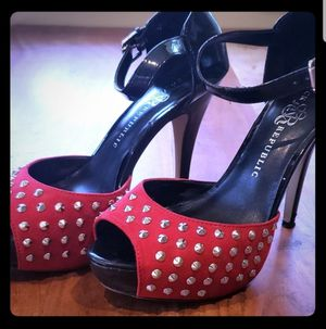 Rock Republic Red Studded Heels Sz8 for Sale in Leavenworth, WA