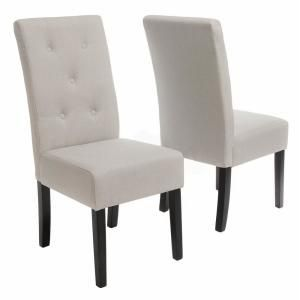 East Village - Taylor Natural Plain Fabric Dining Chair (Set of 2) for Sale in New York, NY