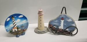 Lighthouse plate and statue for Sale in Lake Worth, FL