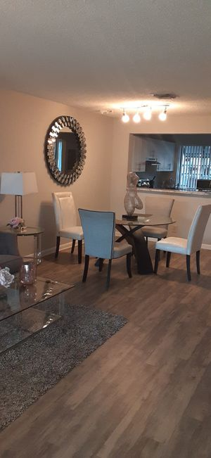 Beautiful Furniture Set table coffee table , couch , tv stand for Sale in Margate, FL