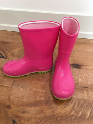 Rain boots girls size 9-10 for Sale in Roselle, IL