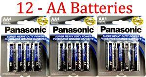 12 Wholesale Panasonic AA Double A Batteries heavy Duty Battery 1.5v for Sale in Fort Lauderdale, FL
