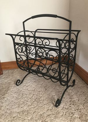 Rod Iron Book/Magazine/towels Etc Rack for Sale in Ridgefield, WA