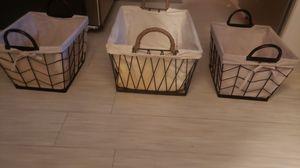 Set of 2 decorative baskets for Sale in Orem, UT