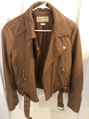 Michael Kors Genuine Leather Jacket (size M) for Sale in San Diego, CA