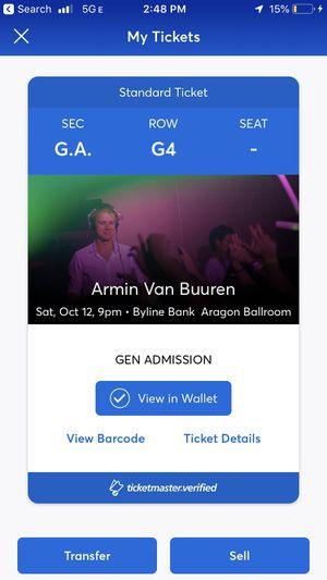 Armin Van Buren for Sale in Chicago, IL