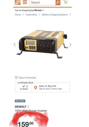 Dewalt Power Inverter 1000W for Sale in Anaheim, CA