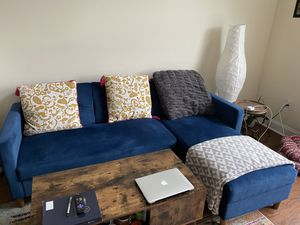 Move out sale- kayden 84 inches sectional couch-like new for Sale in Fair Lawn, NJ