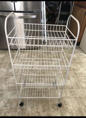 $25, rack with wheels (dimensions on 2nd picture) for Sale in Los Angeles, CA