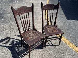 Antique Cane bottom chairs. for Sale in North Port, FL