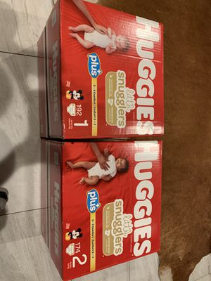 Huggies Size 1 & 2 for Sale in Lawndale, CA