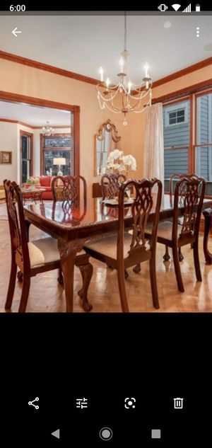 Solid wood dining table /10 chairs for Sale in Stickney, IL