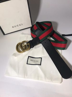 Gucci Webbed Leather Marmont Belt **Authentic for Sale in Queens, NY