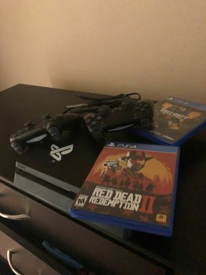 Ps4 That Comes With Red Dead Redemption 2, And Call Of Duty Black Ops 4, And 2 Controllers!!! for Sale in Avon Park, FL