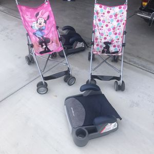 2 Strollers 2 car seats for Sale in Bakersfield, CA