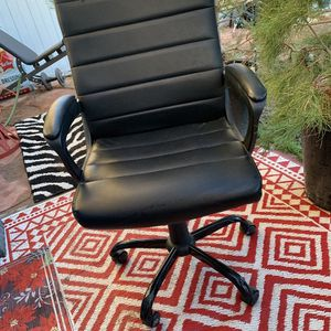 Black PUC leather Office Chair for Sale in Henderson, NV