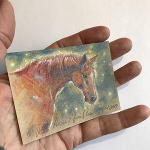 ACEO Original painting horse equestrian quarter horses pastel paintings direct from artist for Sale in Henderson, NV