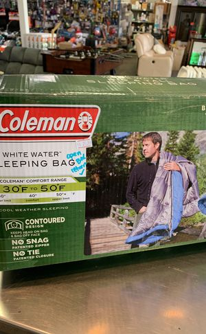 Open box Coleman big and tall sleeping bag PRICE IS FIRM for Sale in Modesto, CA