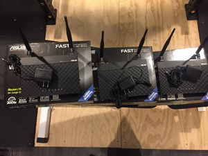 3 ASUS RT-N12 Like New Wireless Routers for Sale in Marietta, GA