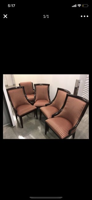 Modern elegant set of chairs real wood for Sale in Coral Gables, FL