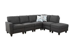 Dark gray sectional couch, 6 pieces per set. New for Sale in Fremont, CA