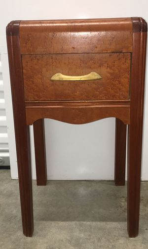 Antique waterfall end table/night stand for Sale in Portland, OR
