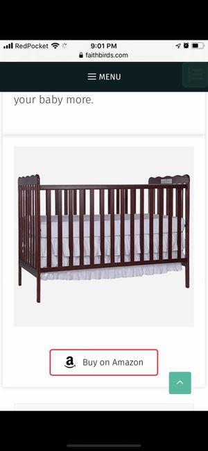 Baby crib cherry for Sale in Falls Church, VA