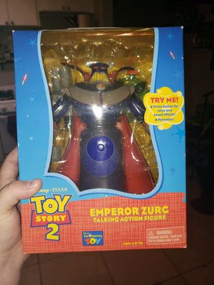 Vintage Think Way Toys Toy Story 2 Emperor Zurg Talking Action Figure for Sale in Tampa, FL
