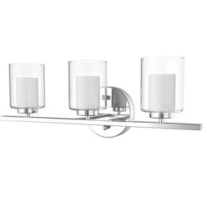 3-Light Wall Sconce Light Fixture W/ Brushed Chrome Finish EP23367 for Sale in San Gabriel, CA