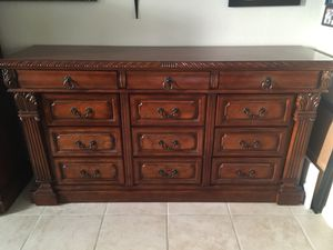 BEAUTIFUL HEAVY CHERRY DRESSER GREAT CONDITION 73 x 20 x 39 for Sale in Las Vegas, NV