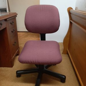 Red Office Chair Adjustable Height and Back Rest for Sale in Renton, WA