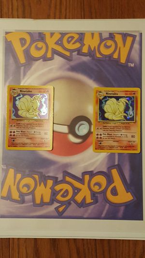 👣Pokemon cards- 2 RARE BASE HOLOS 💥 NINETAILS # 12/102👣 for Sale in Falls Church, VA