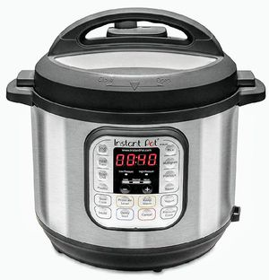 New Instant Pot Duo 80 7-in-1 Electric Pressure Cooker, Slow Cooker, Rice Cooker, Steamer, Saute, Yogurt Maker, and Warmer, 8-QT, for Sale in Hesperia, CA