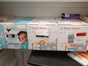 Honest & Pampers Diapers Size 1 for Sale in Portsmouth, VA