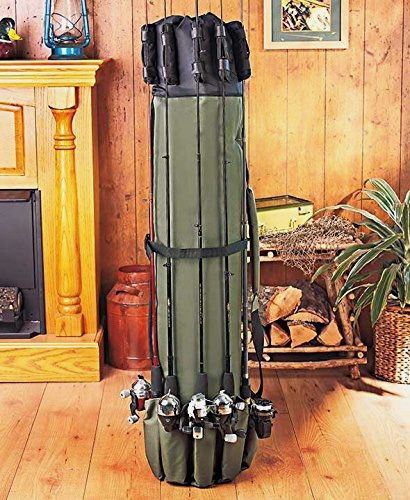 Fishing Rod Reel Organizer Holder Expandable With Shoulder Strap