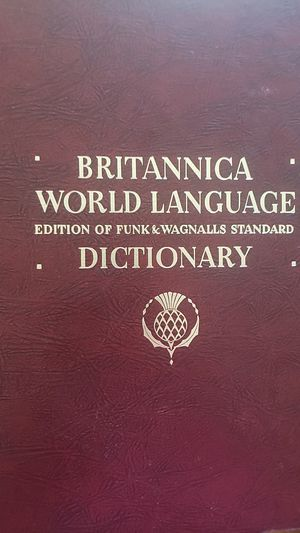 Britannica World Language hardcover Dictionary-1959 edt. for Sale in Nashville, TN