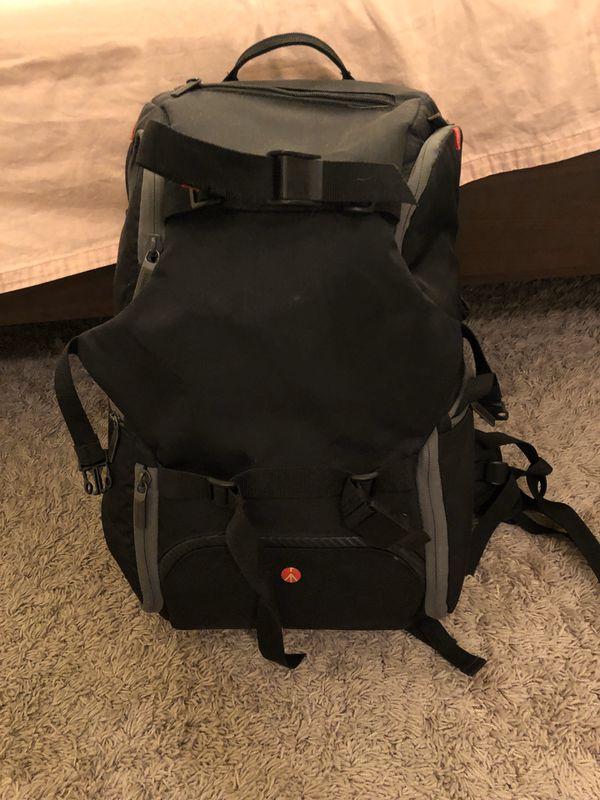 manfrotto camera bag and tripod
