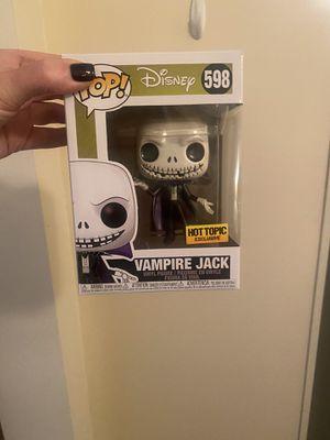 Nightmare before Christmas Funko pop brand new Jack skellington vampire Jack Halloween for Sale in Garwood, NJ