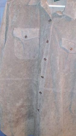 Ralph Lauren Womans Leather Shirt Size L for Sale in Barrington,  NJ